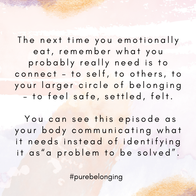 emotional eating identified problem